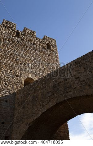 Beacon And Tower Of The Medieval Castle Of Loarre, Aragonese Castle From The 11th And 12th Century,