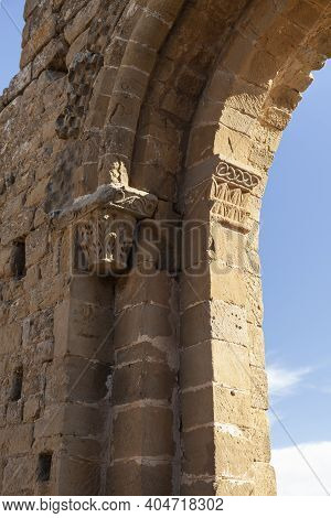 Reliefs Of The Medieval Castle Of Loarre, Aragonese Castle From The 11th And 12th Century, Romanesqu