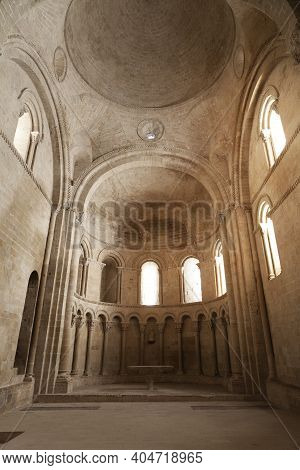 Dome Church And Altar In The Medieval Castle Of Loarre, Aragonese Castle From The 11th And 12th Cent