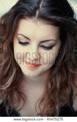 Shy Young Woman
