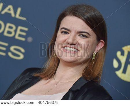 LOS ANGELES - JAN 05:  Leslye Headland arrives for Showtime Golden Globe Nominee Celebration Premiere on January 05, 2019 in West Hollywood, CA