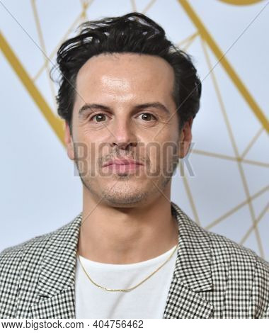 LOS ANGELES - SEP 21:  Andrew Scott arrives for Showtime Celebrates Emmy Eve on September 21, 2019 in West Hollywood, CA