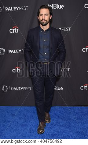 LOS ANGELES - MAR 24:  Milo Ventimiglia arrives for PaleyFest 2019 - This Is Us on March 24, 2019 in Hollywood, CA