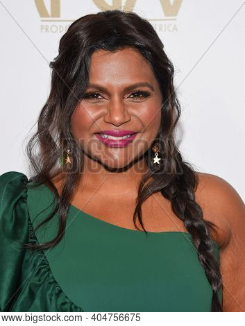 LOS ANGELES - JAN 19:  Actress Mindy Kaling arrives for the 30th Annual Producers Guild Awards on January 19, 2019 in Beverly Hills, CA