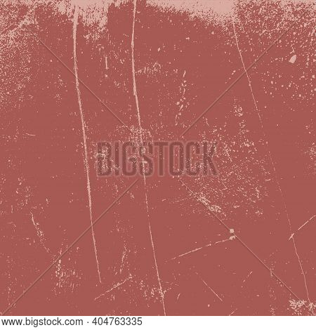Red Aged Grainy Messy Template. Distress Urban Used Texture. Grunge Rough Dirty Background. Brushed