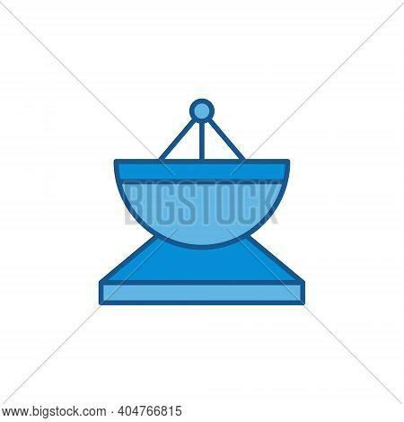 Parabolic Satellite Antenna Vector Concept Colored Icon Or Symbol