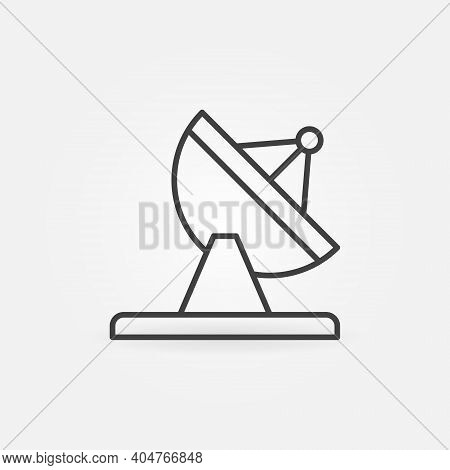 Parabolic Satellite Dish Tower Vector Thin Line Concept Icon Or Design Element