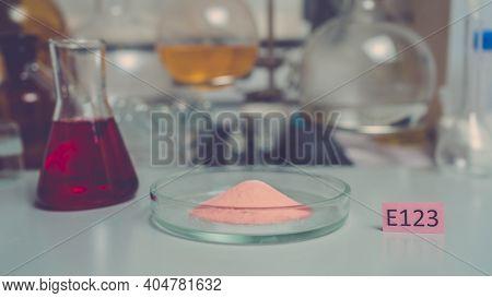 Amaranth, Trisodium Salt Or Food Additive E123 Is A Dye For Food, Preservatives Substances That Are