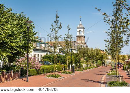 Texel, Netherlands - August 2015: Village View Of Cocksdorp A Small Village At The Wadden Island Tex