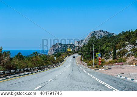 August 12, 2020, Crimea, Crimean Peninsula. Tunnel On The Yalta - Sevastopol Highway. Crimean Landsc