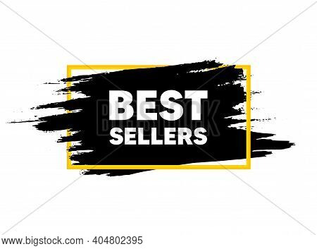 Best Sellers. Paint Brush Stroke In Frame. Special Offer Price Sign. Advertising Discounts Symbol. P