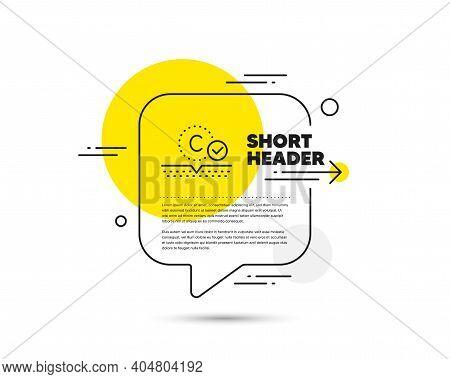 Collagen Skin Line Icon. Speech Bubble Vector Concept. Cream Care Sign. Cosmetic Lotion Symbol. Coll