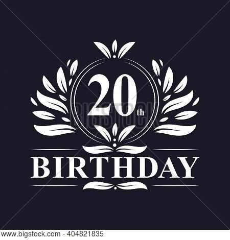 20 Years Birthday Logo, Luxury 20th Birthday Design Celebration.