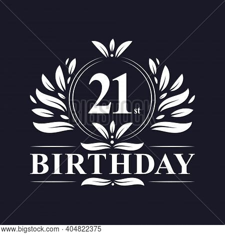 21 Years Birthday Logo, Luxury 21st Birthday Design Celebration.