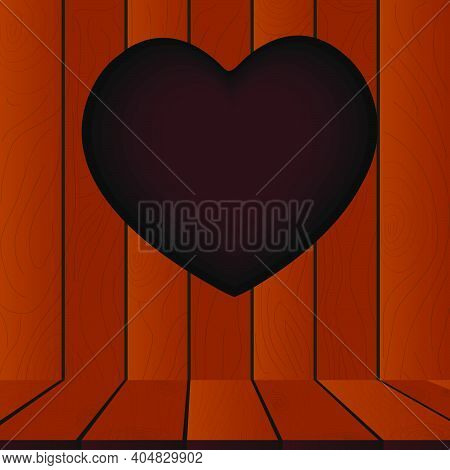 Valentine's Heart Wood Cutout, Heart Shapes Cut In Wood
