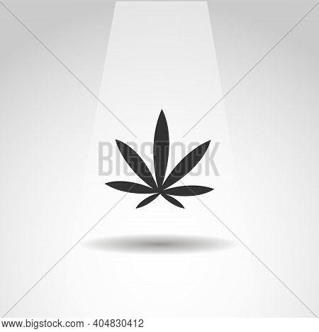 Cannabis Icon, Marijuana Leaf Icon, Marijuana Leaf Simple Plant Icon