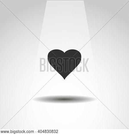 Heart Vector Icon, Love Heart Simple Icon