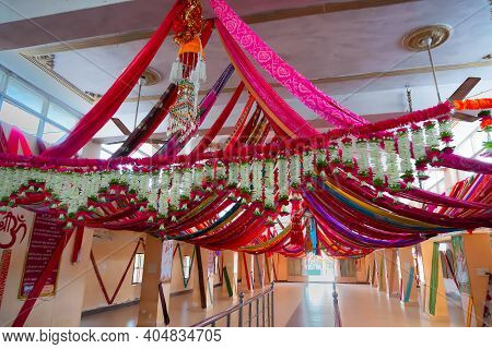 Jaisalmer, Rajasthan, India- 15th October 2019 : Inside View Of Tanot Mata Mandir At India Pakistan