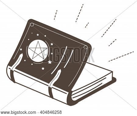 Magic Book With Pentagram, Spells And Witchcraft