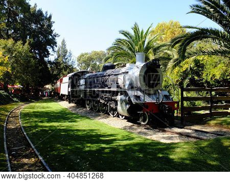 Johannesburg, South Africa - 28 Apr 2012: The Vintage Train In Gold Reef City, Johannesburg, South A