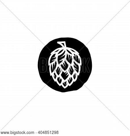 Vintage Hops Flower For Beer Ale Brewery Logo Design