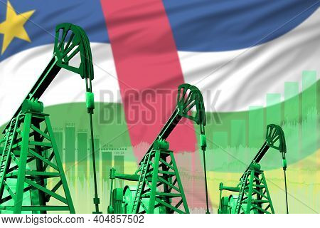 Central African Republic Oil And Petrol Industry Concept, Industrial Illustration On Central African