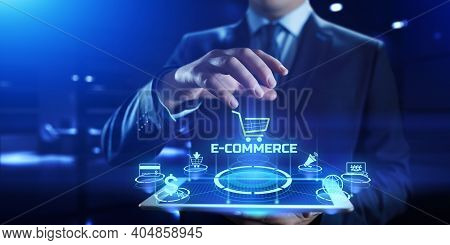 E-commerce Online Shopping Business Internet Technology Concept.