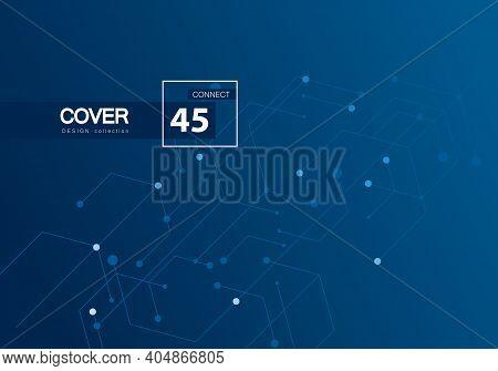 Digital Technology Backdrop. Vector Futuristic Digital Concept. White Pattern Template. Blue Geometr