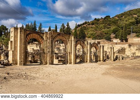 Palace Of Medina Azahara, Arab City Founded In The Year 936 By Abderraman Iii About 8 Km From Cordob