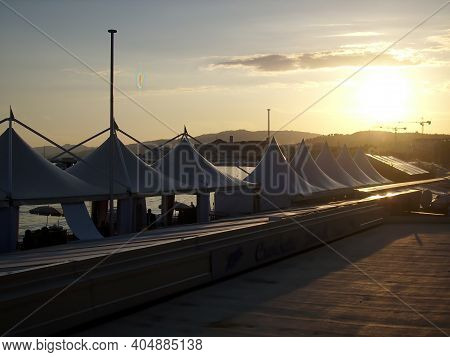 Cannes, France - 07th January 2018: A German Photographer Visiting The French Riviera, Taking Pictur