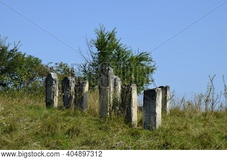 Old Jewish Cemetery In The Fall.the Jewish Cemetery Is A Kirkut