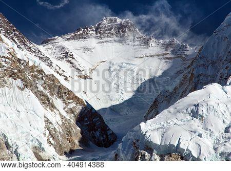 View Of Mount Lhotse From Pumori Base Camp, Sagarmatha National Park, Khumbu Valley, Solukhumbu, Nep