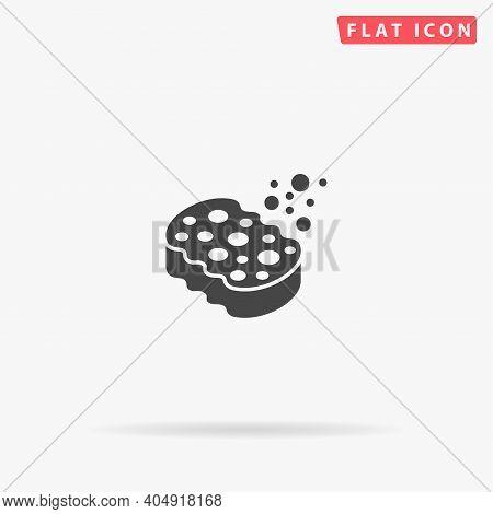 Sponge Flat Vector Icon. Hand Drawn Style Design Illustrations.