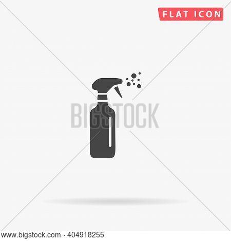 Spray Bottle Flat Vector Icon. Hand Drawn Style Design Illustrations.
