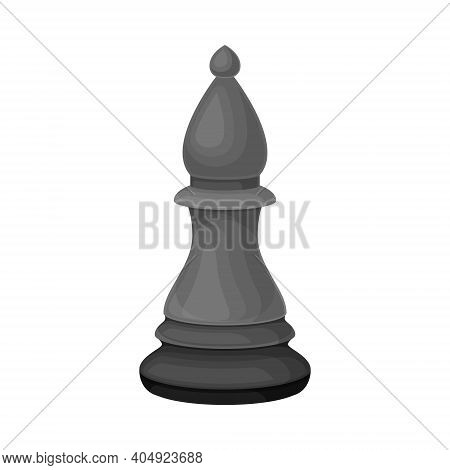 Black Bishop As Chess Piece Or Chessman Vector Illustration