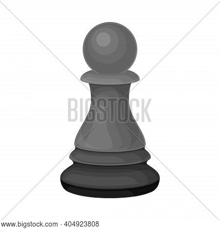 Black Pawn As Chess Piece Or Chessman Vector Illustration