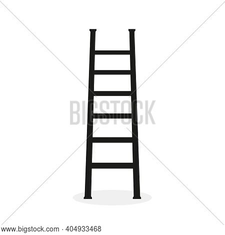 Vector Icon Of Ladder With Steps. Isolated Illustration Of Stairs On White Background