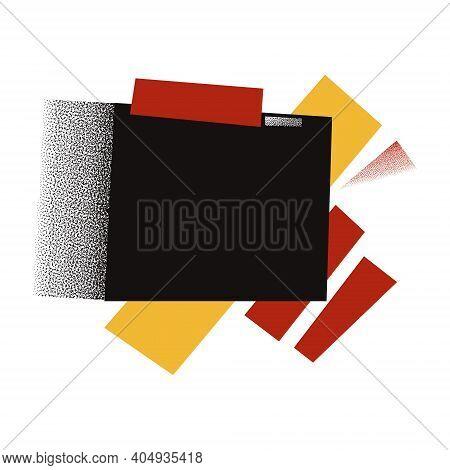 Russian Avant-garde, Soviet Constructivism Geometric Ornament. Background, Composition For Design, P