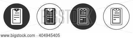 Black Clipboard With Checklist Icon Isolated On White Background. Control List Symbol. Survey Poll O