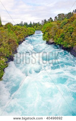 Blue Waters In  Narrow Canyon
