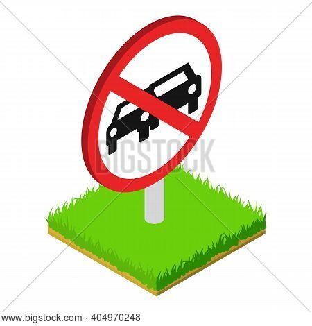 Prohibited Sign Icon. Isometric Illustration Of Prohibited Sign Vector Icon For Web