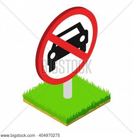 Forbidden Sign Icon. Isometric Illustration Of Forbidden Sign Vector Icon For Web