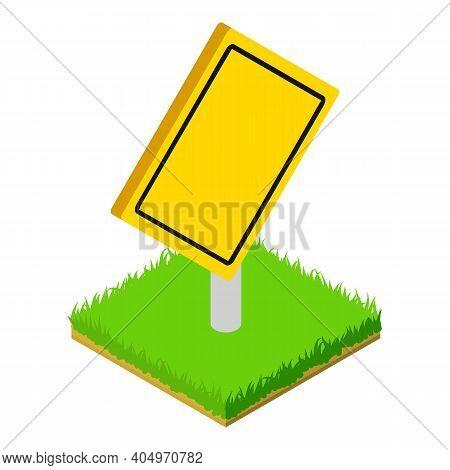 Warning Roadsign Icon. Isometric Illustration Of Warning Roadsign Vector Icon For Web