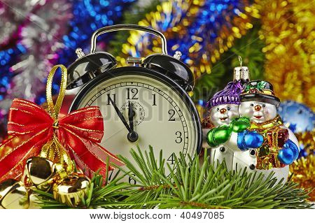 Christmas Decoration And Clock