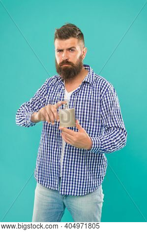 Sophisticated Sensual Scent. Caucasian Guy With Beard And Mustache. Male Prefer Expensive Fragrance