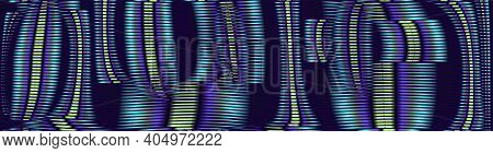 Dark Blue Digital Abstract Background With Crossed Lines And Moire. Multi Color Texture For Web Back