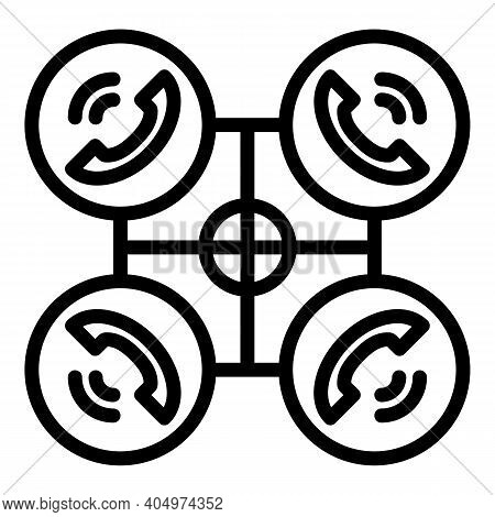 Business Agent Scheme Icon. Outline Business Agent Scheme Vector Icon For Web Design Isolated On Whi