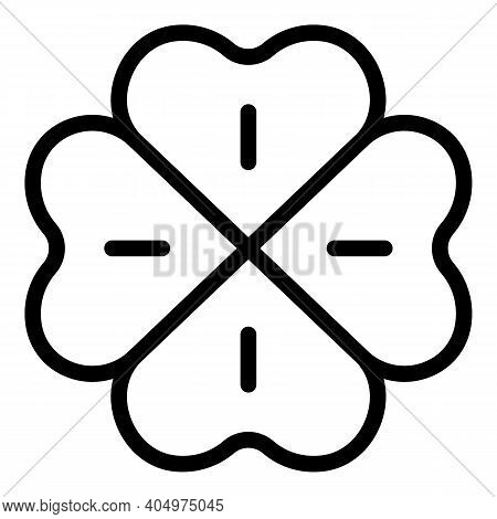 Clover Botanic Icon. Outline Clover Botanic Vector Icon For Web Design Isolated On White Background