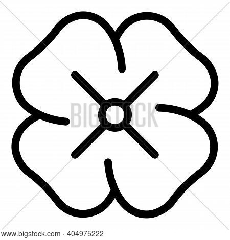 Clover Luck Icon. Outline Clover Luck Vector Icon For Web Design Isolated On White Background