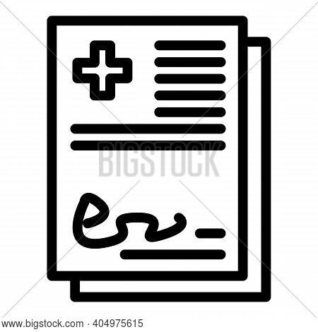 Physical Therapist Certificate Icon. Outline Physical Therapist Certificate Vector Icon For Web Desi